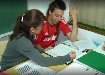 alumno en aula